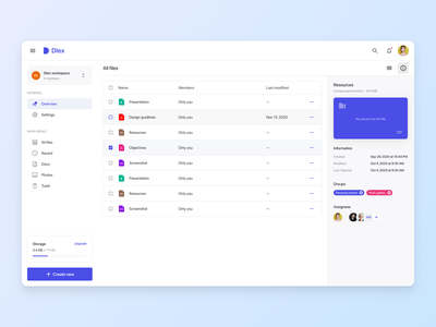 File manager list view light analytics graph design system ui kit todo timeline task board project management admin templates email file manager ecommerce dashboard chat chart kit calendar admin dashboard admin dark