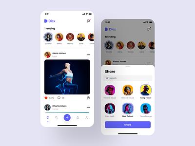 Mobile app feed screen ui design mobile app mobile ui mobile app design android ios figma design design system app interface ux ui kit ui