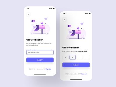 OTP Verification mobile app login ios app mobile app ios design design system app interface ux ui kit ui