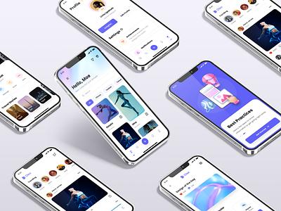 Mobile app screens figma mobile app ios app ios design design system app interface ux ui kit ui