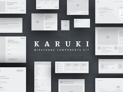 Karuki wireframe kit