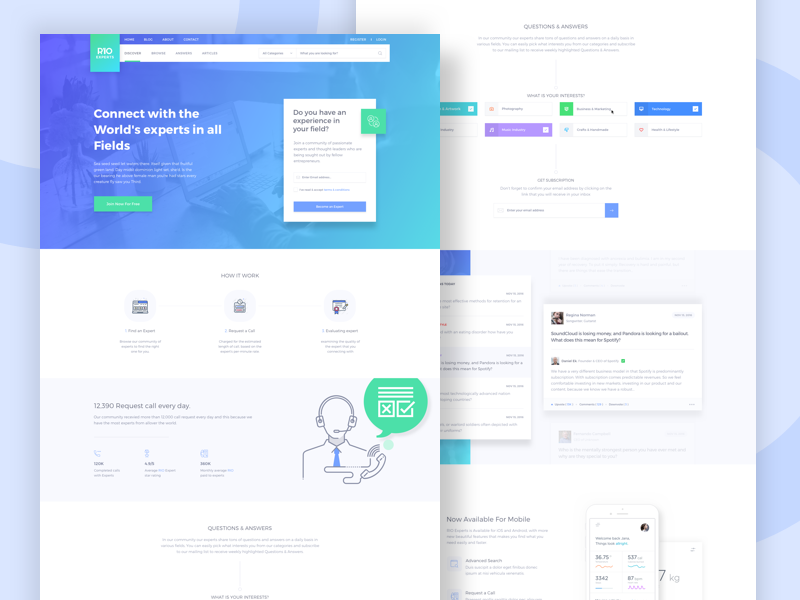 Interface Design By Rely'IO visual language experts template design creative platform interface website relyio ux ui