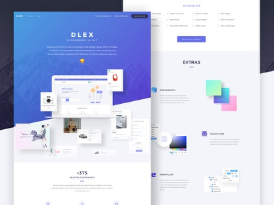 Dlex for designers & Developers interface minimal layout freebie sketch ux product shopping commerce ui kit dlex