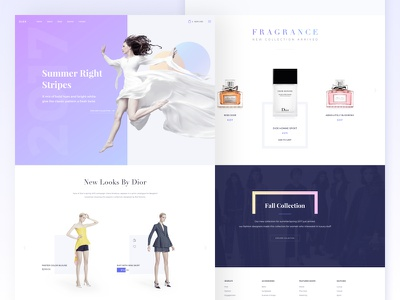 E-Commerce Landing Design landing interface minimal layout sketch ux product shopping commerce ui kit dlex