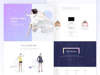 E-Commerce Landing Design landing interface minimal layout sketch ux product shopping commerce ui kit dlex