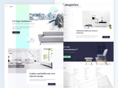 Furniture Landing page dlex ui kit commerce shopping product ux sketch furniture layout minimal interface