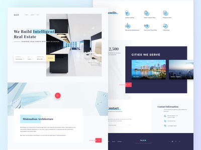 Real estate dlex ui kit ecommerce shopping landing minimal real estate