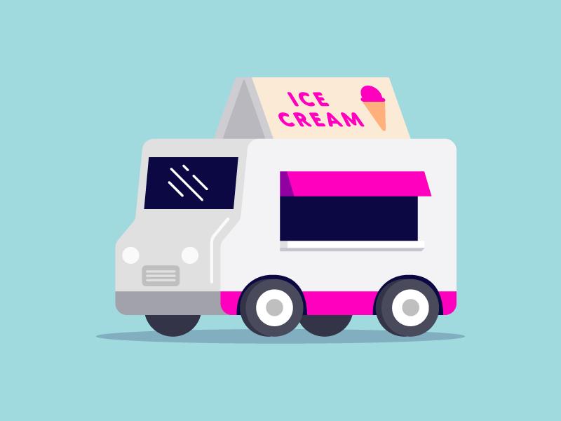 Ice Cream Truck ice cream summer automobile car truck