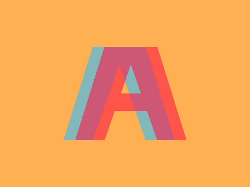 The Letter A type transparency letter a typography