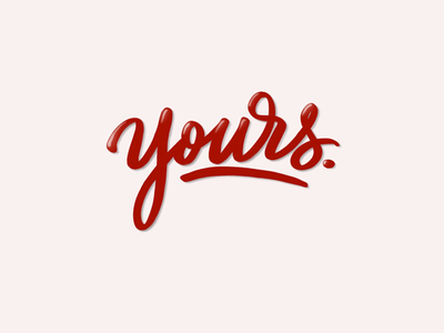 Yours.