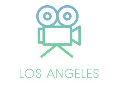Los Angeles Poster cinema los angeles movie flat icon design minimal