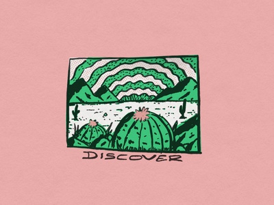 Discover texture graphic design illustration desert discover cactus peyote mexico