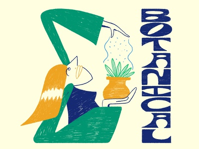 Get Botanical botanical plants illustrator pencil drawn hand wacom lettering graphic design texture typography illustration