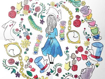 Alice design logo illustration