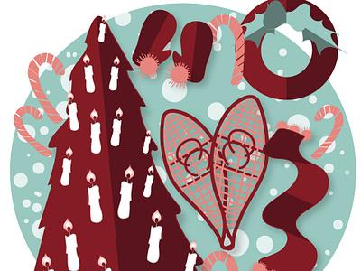 Cozy and Warm vector logo design illustration illustrator