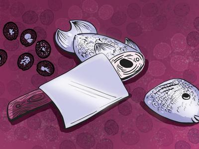 Chopped illustrator vector illustration