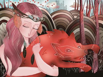 Accepting Fear book illustration editorial illustration digital painting digital illustration illustrator illustration