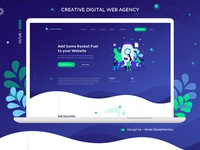Digital Web Agency - Flat Website Design digital art web agency digital site flat  design flat illustration flat design vector design illustration minimalism trend 2020 landing page ux design ui ui  ux website design web design website