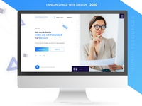 Business Landing page - Digital HR Online trend2020 web design 2020 site design wordpress online business landing page design landing design html ux site development business ui web design minimalism design webdesign trend 2020 website landing page webdesign site