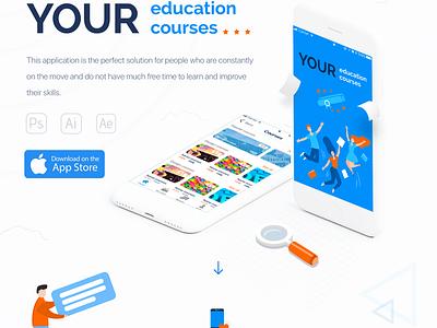 UI/UX for Education iOS app app ux app ui app design mobile app mobile design mockup app mobile apple app