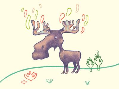 Moose forest animals forest logo forest moose character design character illustration