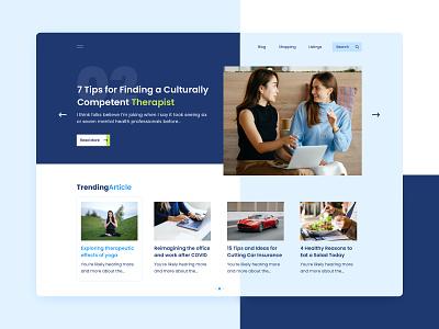 Hybrid Blog Website desktop banner hero blog shop uiux online interface website graphic design ui
