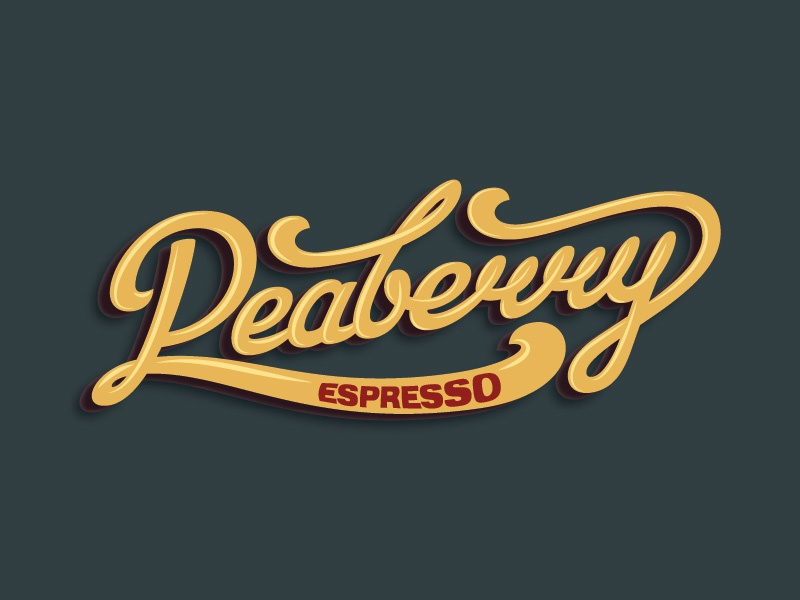 Peaberry Logo logo lettering roasted coffee espresso
