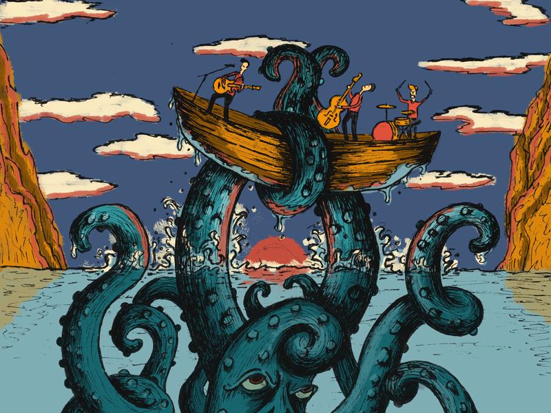 Squid Have Them All music fun concept illustration art squid