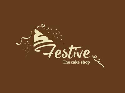 Festive a cake shop logo