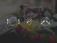 Empty states icons for foodies