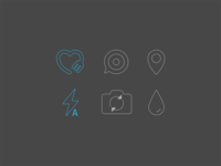 Set of icons for foodies