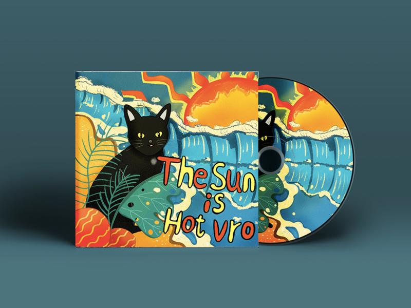 Album cover — Cat & Sun album cover sun cat illustration