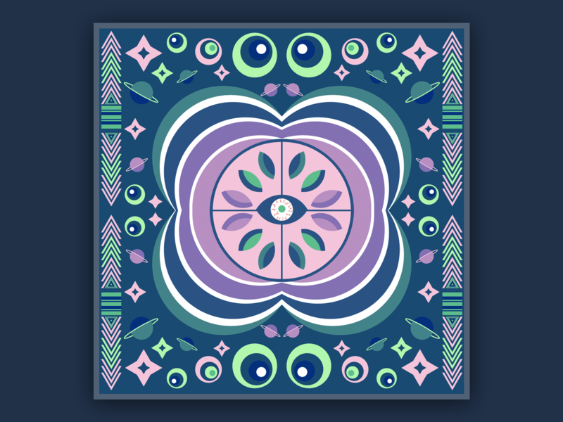 Kaleidoscopic design illustration
