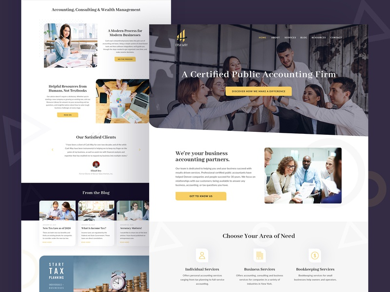 Certified Public Accounting Firm ui design web design accounting accountant