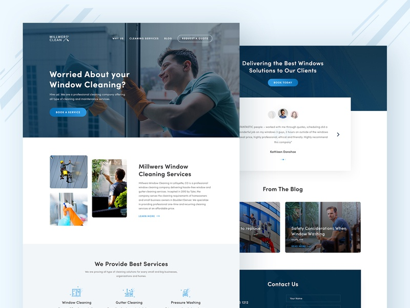Window Cleaning Service cleaning service webdesign cleaning window cleaning design ui