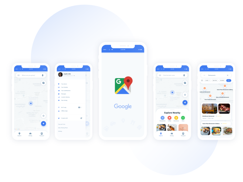 Google Map Redesign google map app design design ui