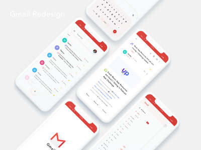 Gmail Redesign gmail app design design ui