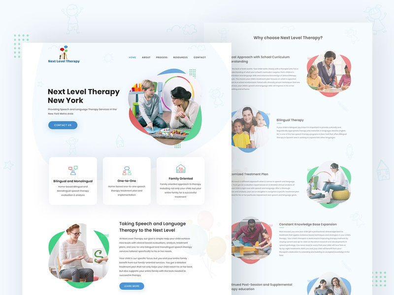 Next Level Therapy webdesign therapist therapy ux design ui