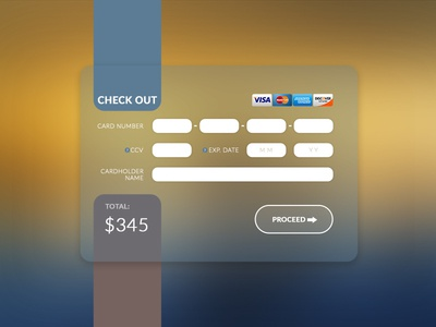 #dailyui Challenge  #002 Creit Card Check out