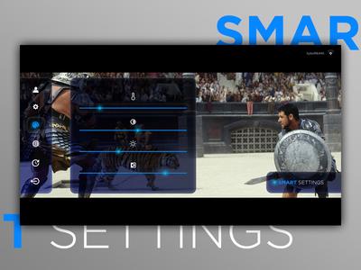 #dailyui Challenge  #007 Smart Tv Color Settings