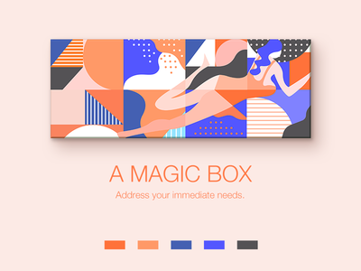 A package design packing illustrator illustration box