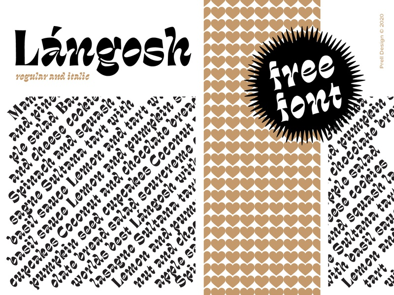 Lángosh font - It's available :) retro typography