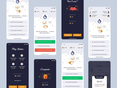 Quiz app catagories activity chart illustration question question mark questionnaire quiz quizz quizzes coin game app game play right answer quiz app