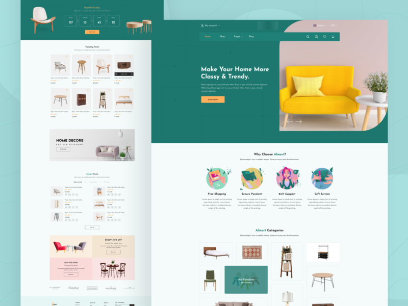 Furniture E-commerce Website