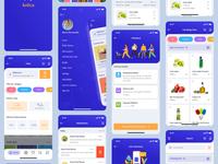 Grocery App UI dashboard ui ios app design minimal illustration landing page prototype uiux grocery store grocery app grocery app animations app animation animation ui app