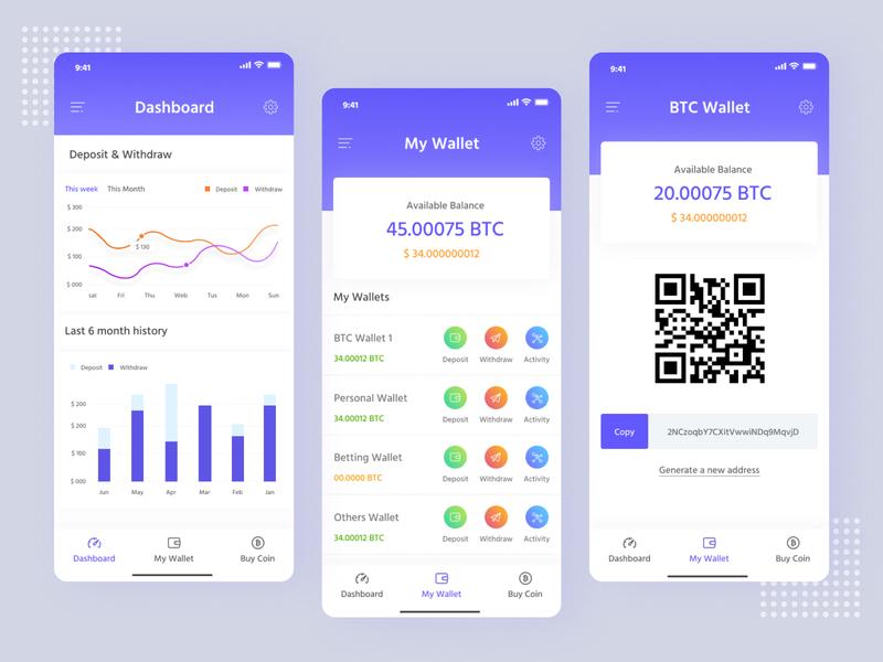 iOS Mobile Application - Crypto Wallet