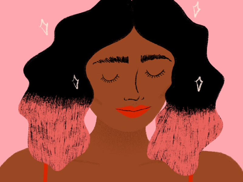 Feeling Good bold procreate colorful women beautiful women of color self care love