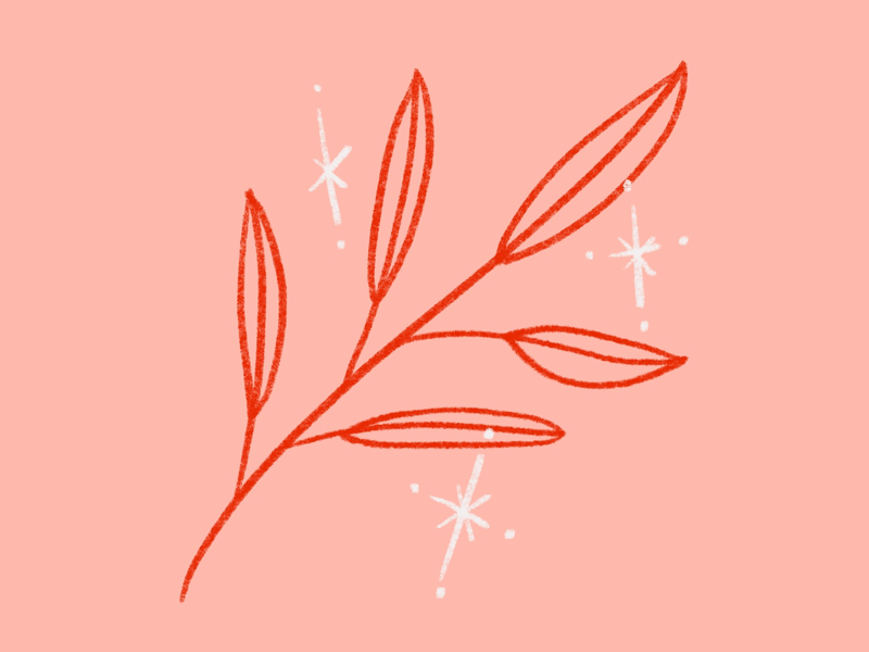 Plant Magic icon red millennial pink pink sparkle magic plants