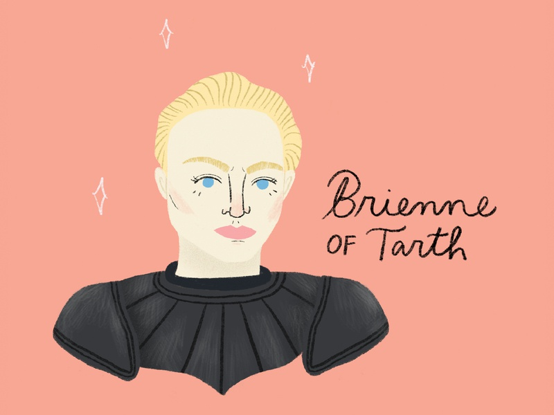 Brienne of Tarth etsy seller etsy fun modern hand lettering print design prints feminist strong women women game of thrones brienne of tarth