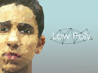 Self Portrait illustration polygonal lowpoly
